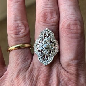 Jewelry - New Boho Silver Ring Marked 925 Women's Size 7.25
